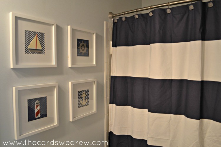 Nautical bathroom makeover the cards we drew for Bathroom themes