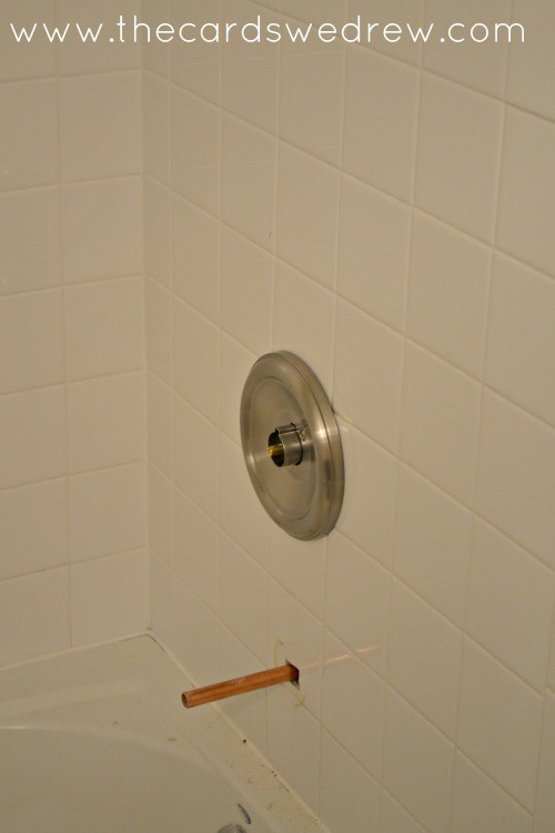 new plumbing to the shower