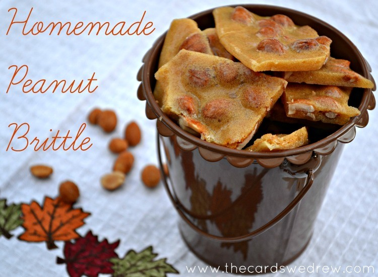 Homemade Peanut Brittle Recipe from The Cards We Drew