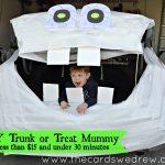 Trunk or Treat Idea: DIY Mummy