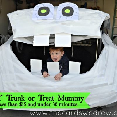 Trunk or Treat Idea: DIY Mummy