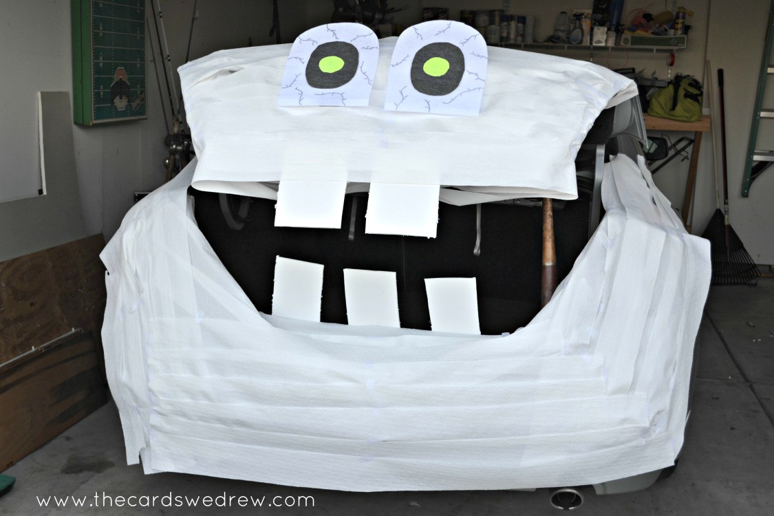 trunk or treat idea diy mummy the cards we drew. Black Bedroom Furniture Sets. Home Design Ideas