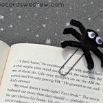 Easy Paperclip Spider Kids Halloween Craft