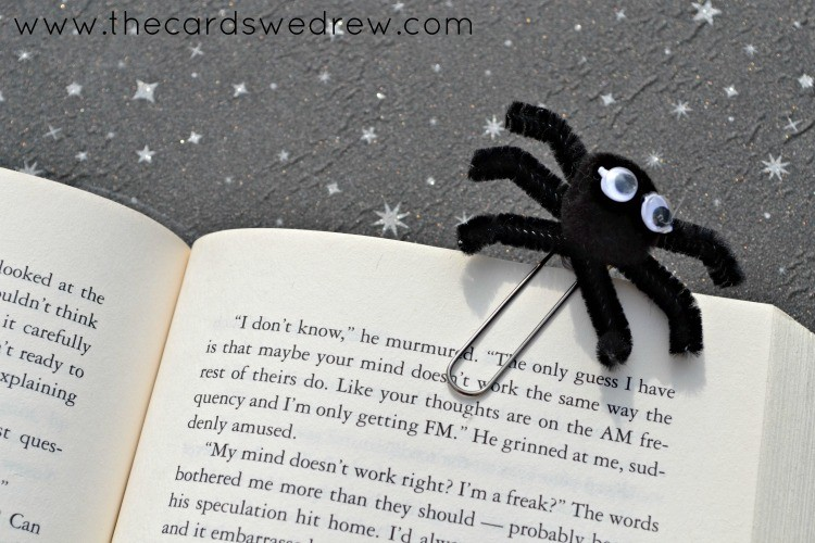 paperclip spider bookmark
