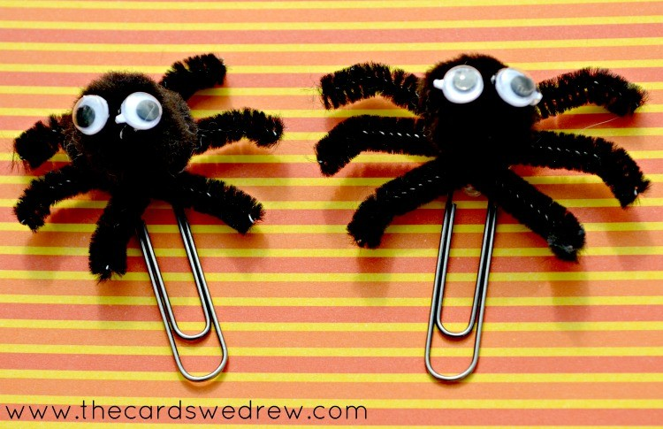 paperclip spiders step four with eyes