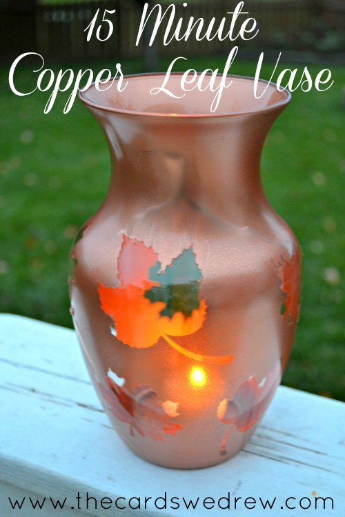 15 minute copper thanksgiving centerpiece