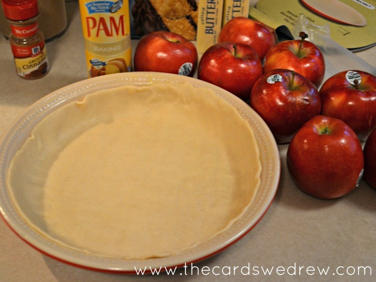 Add pie crust to the pan