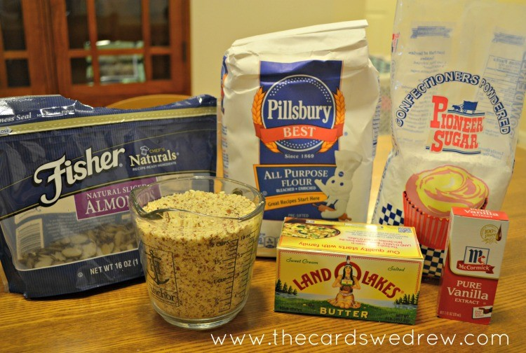 Almond Squeeze-It Cookies ingredients using Land O' Lakes Butter #HolidayButter #cbias