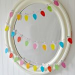 Christmas Light Garland Mirror