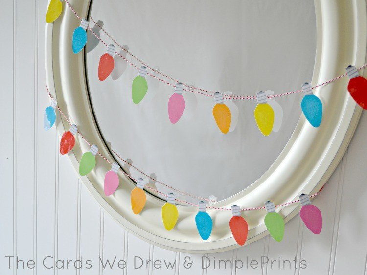 Christmas Light Garland by The Cards We Drew and DimplePrints