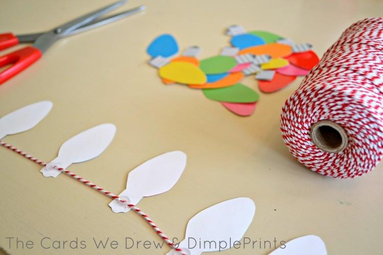 Create your Christmas Light Garland