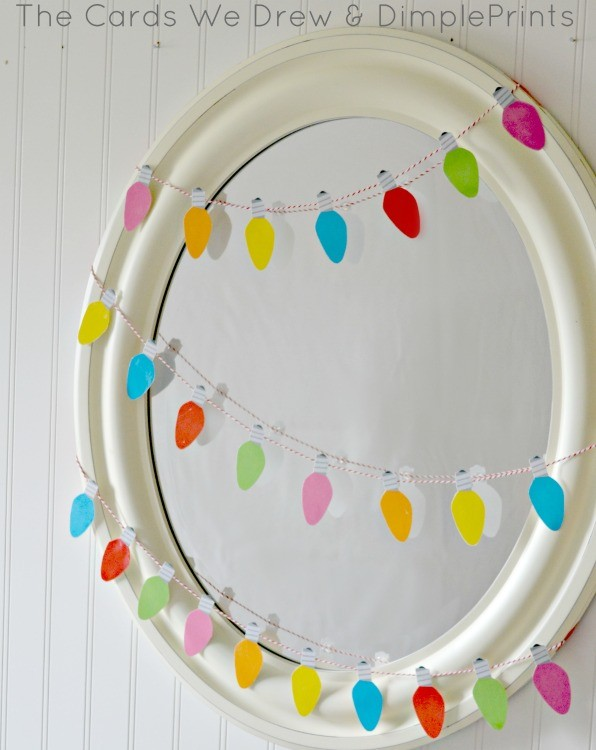 Free Printable Christmas Light Garland from DimplePrints