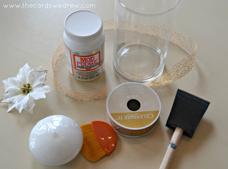 Glitter Mod Podged Vase