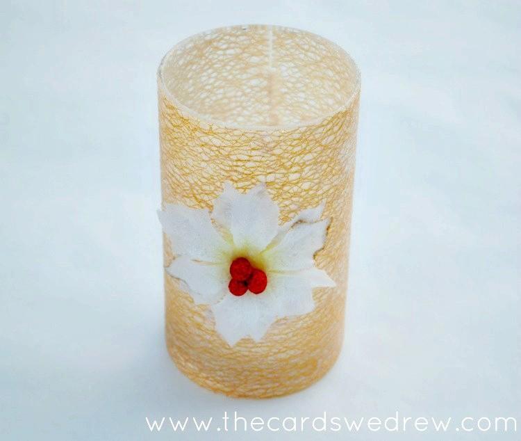 Mod Podge Ribbon Glitter Vase