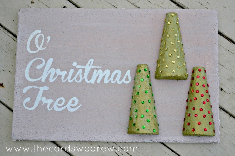 O Christmas Tree Faux Pallet Sign from The Cards We Drew