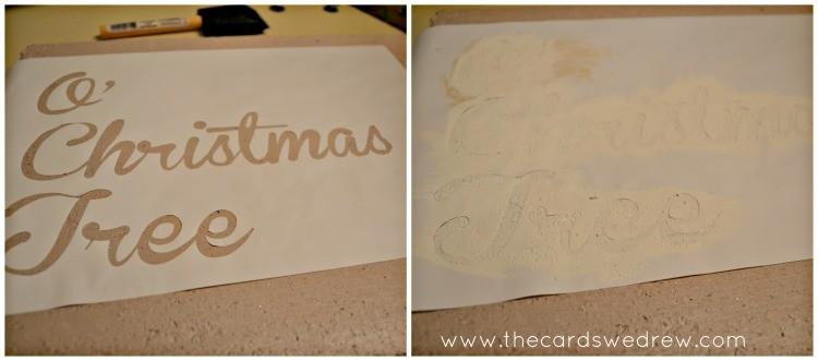 O' Christmas Tree Sign Steps 7-8