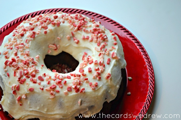 chocolate peppermint bundt cake from the cards we drew #loveyourcup #cbias #shop