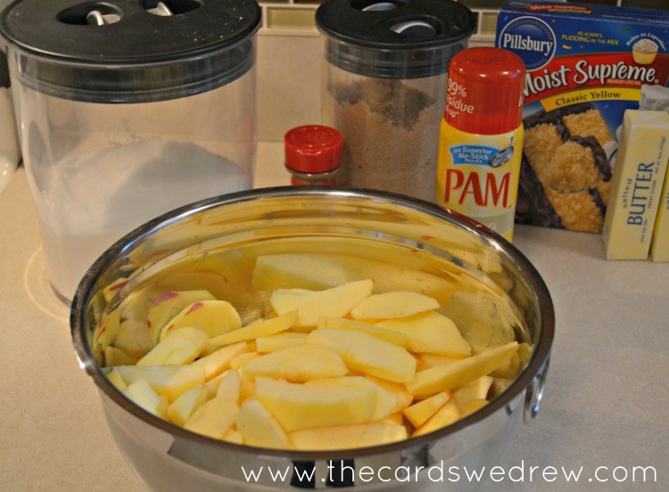 cut and peel apples and set aside to create filling