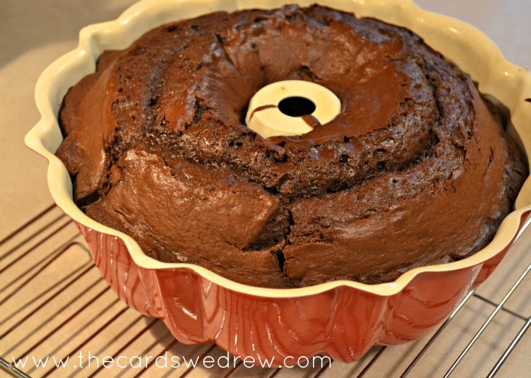 pull your cake out of the oven and let cool before flipping over out of the pan