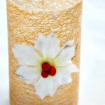 Gold Glitter Mod Podge Christmas Vase