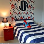 Herringbone Stenciled Headboard with Wall Monogram {+giveaway!}
