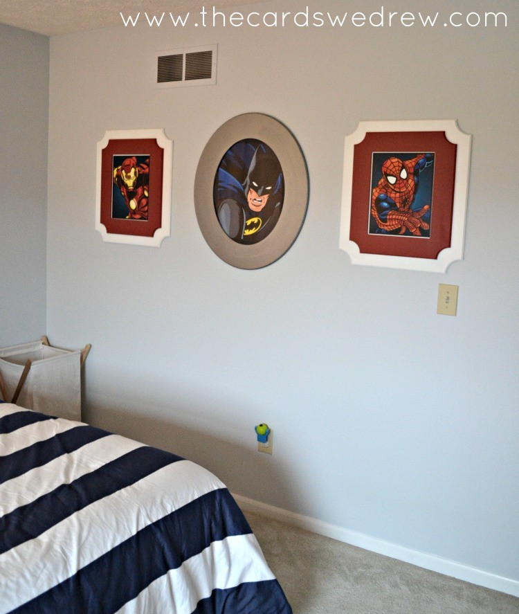Cut it Out frames for boys bedroom