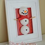 3D Christmas Tree and Snowman Art