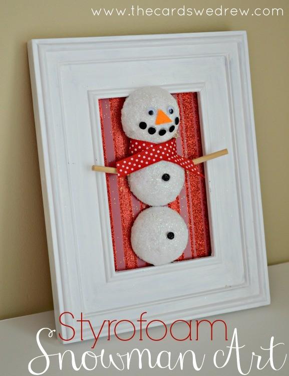 DIY FloraCraft Styrofoam Snowman Art
