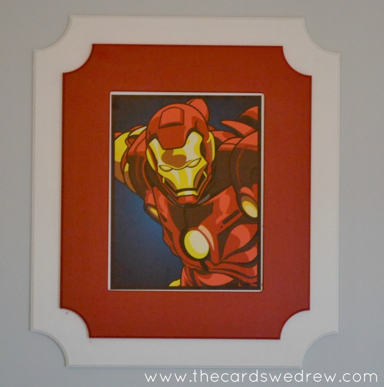 Iron Man print and cut it out frame