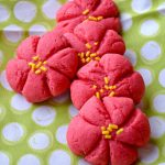 Poinsettia Christmas Cookies