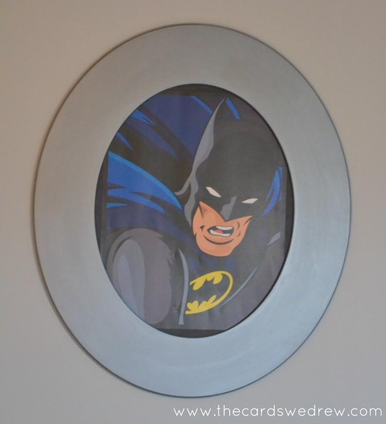 framed batman print for boys room