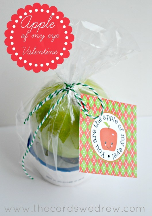 Apple of my Eye Valentine + Free Print