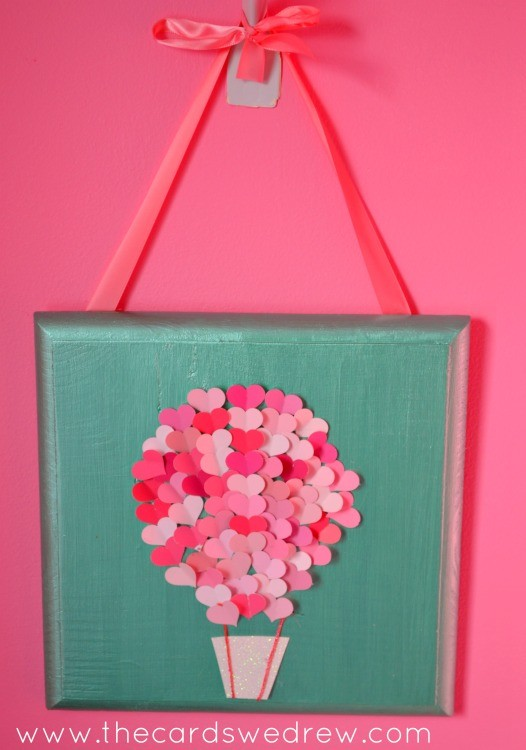 Heart Hot Air Balloon Nursery Art