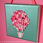 Paint Swatch Heart Air Balloon Nursery Art