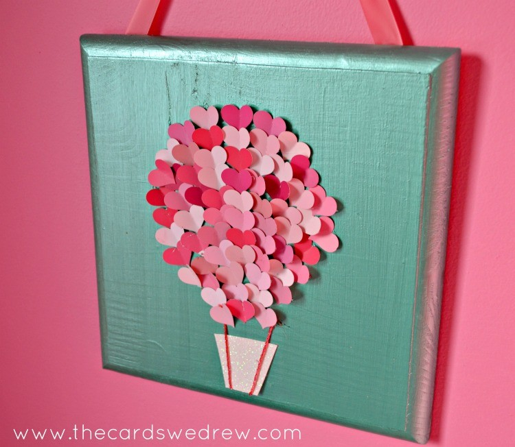 Paint Swatch Heart Air Balloon Nursery Art - The Cards We Drew