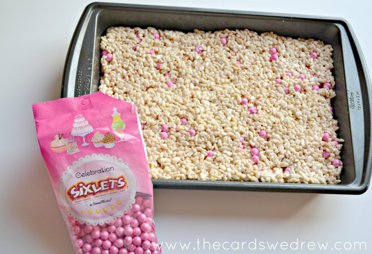 Pink Sixlet Valentine's Rice Krispy Treats