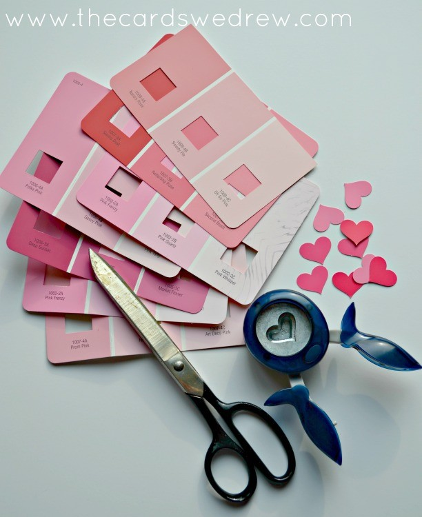 paint swatch hearts