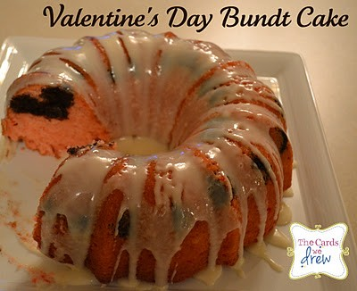 strawberry brownie bundt cake