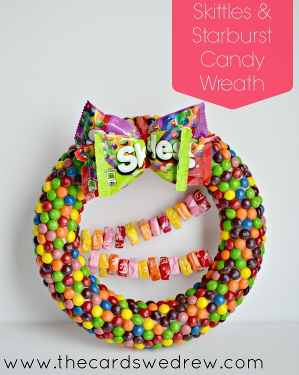 Skittles and Starburst Candy Wreath