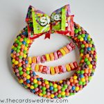 Spring Candy Gift Wreath using Skittles and Starburst