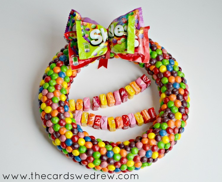 Skittles and Starburst Gift Wreath
