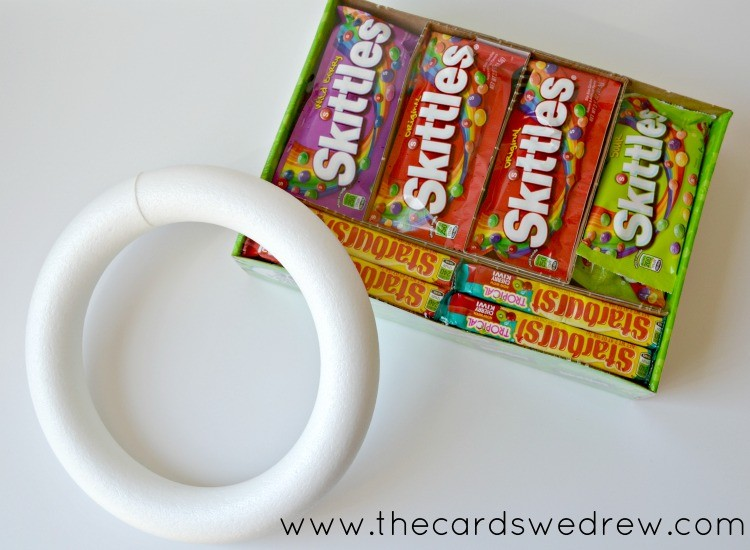 Spring Candy Gift Wreath Using Skittles And Starburst The Cards We