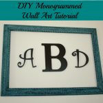 DIY Monogramed Wall Art from Denise Designed