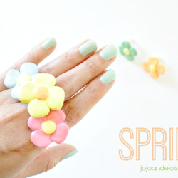 Spring Flower Rings from JoJo and Eloise