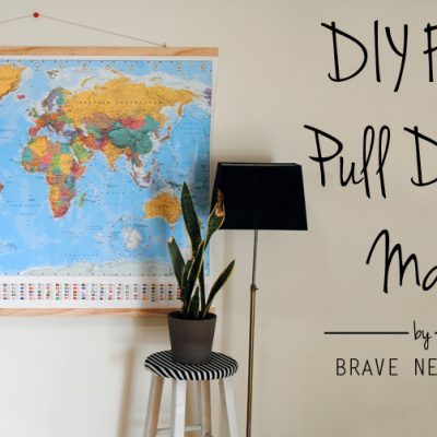 DIY Faux Pull Down Map from Brave New Home