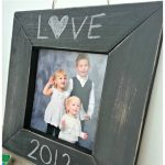 Pottery Barn Kids Knockoff Chalkboard Frame from My Craftily Ever After