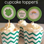 St. Patrick's Day Cupcake Toppers {Free Prints!} from Here Comes the Sun
