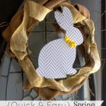 Quick Spring Bunny Wreath from 52 Mantels