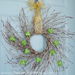 Green and Gold St. Patrick's Day Wreath + Gold Blog Hop Ideas