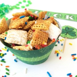 Rainbow Chex Mix and Free Shamrock Printable from 100 Directions